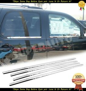 For 2007 2014 Chevy Tahoe Suburban Avalanche Chrome Window Sill Trim Moldings