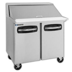 Masterbilt Mbsmp36 15a 36 2 Section Fusion Mega Top Sandwich Salad Prep W Door