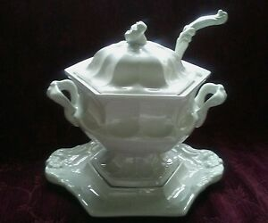 Redcliffe Ironstone Large Heirloom Souptureen With Lid Underplate Ladle