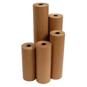 18 40 Lbs 900 Brown Kraft Paper Roll Shipping Wrapping Cushioning Void Fill