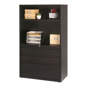 Hirsh 3 Drawer Lateral File Cabinet In Black