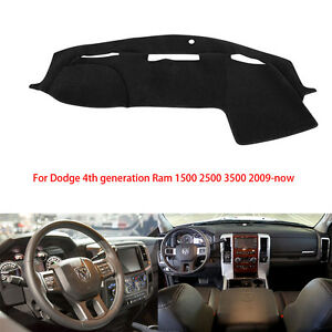 For Dodge Ram 1500 2500 3500 2009 2016 Dash Cover Dash Mat Dashboard Mat Black