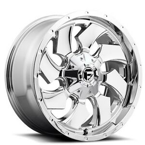 4rims set Off Road 18 Fuel Wheels D573 Cleaver Chrome Rims