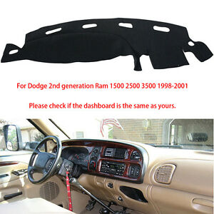 For Dodge Ram 1500 2500 3500 1998 2001 Dash Cover Dash Mat Dashboard Mat Black