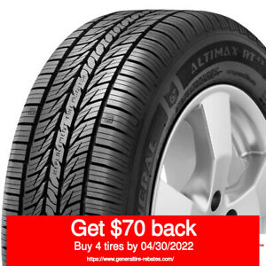 General Altimax Rt43 215 55r16 97h quantity Of 4