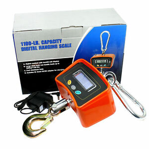 Lcd Digital Crane Heavy Duty Industrial Hanging Scale New 500 Kg 1100 Lbs Usa