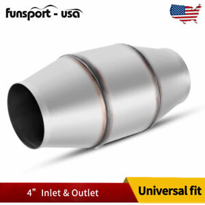 60011 Universal Fit 4 Inlet Outlet Catalytic Converter 6 Round Body