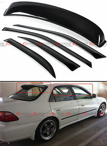 For 98 02 Accord 4 Dr Sedan Rear Dark Tint Window Roof Visor Side Visor Combo