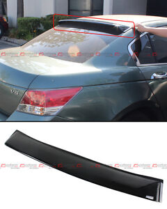 For 2008 2012 8th Gen Honda Accord Sedan Jdm Rear Window Roof Visor Spoiler Wing