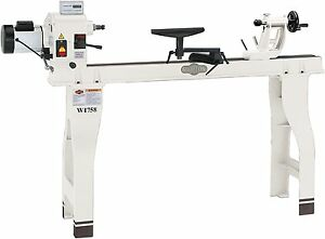 New Shop Fox W1758 Wood Lathe With Cast Iron Legs And Digital Readout Heavy duty
