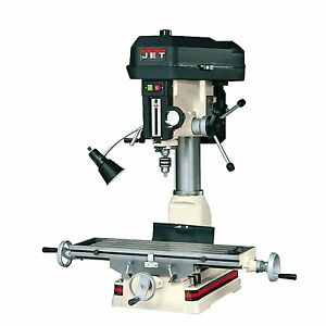 Jet 350017 jmd 15 Milling drilling Machine Tapered Base Allows Easier Clean up