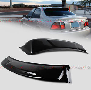For 1994 1997 Honda Accord Sedan Smoke Tinted Rear Roof Window Visor Deflector