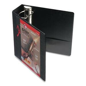 Cardinal 10341 Easy Open Clearvue Locking Slant d Ring Binder 4 Black