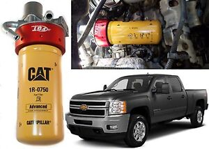 Cat Fuel Filter Adapter Conversion Kit For 2001 2016 Duramax New Free Shipping