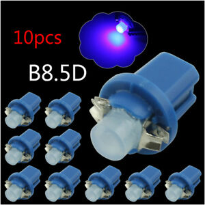 10 Blue B8 5d Cob Led Bulb Instrument Panel Gauge Lamp Light 12v