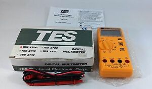 Tes 2700 Digital Multimeter Auto Ranging 3200 Count Lcd Volt Amp Ohm Tester