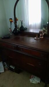 Antique Dresser With Mirror Good Condtion Needs A Little Tlc 100 Years Old