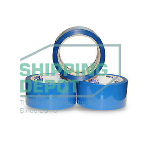 12 Roll Blue 2 X 110 Yds Color Acrylic Carton Sealing Packing Tape 2in X 330ft