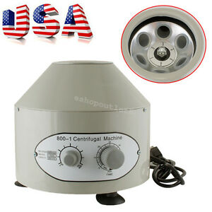 Electric Centrifuge Machine 4000rpm Lab Medical Practice 25w 20 Ml X 6 Us Stock