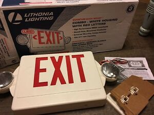 Lithonia 142an9 Signage 2 light Thermoplastic Led Emergency Exit Sign fixture