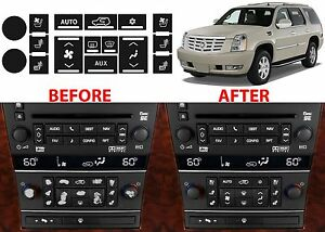 Ac Button Repair Kit For 2007 2014 Cadillac Escalade Fix Your Peeling Buttons