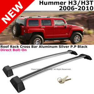 Hummer H3 Silver Roof Rail Rack Cross Bar Luggage Carrier