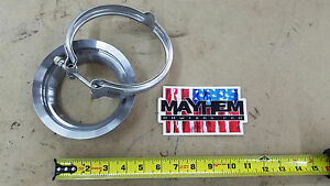 S400 T6 K31 Billet Aluminum Turbo Exhaust Flange 5 0 Stainless Steel Clamp