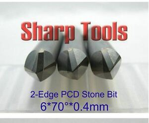 3pcs set 6mm 70 0 4mm Polycrystalline Pcd Diamond Cnc Router Bit Granite Stone