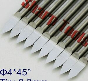 10pcs lot 4mm 45degree 0 3mm V Pcb Metal Carving Cnc Router Bits