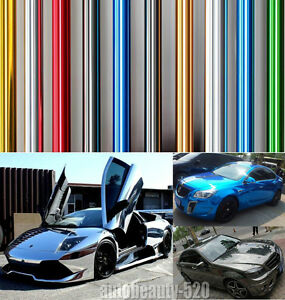 Colorful New Car Glossy Mirror Chrome Vinyl Wrap Decal Film Sticker Sheet Abc