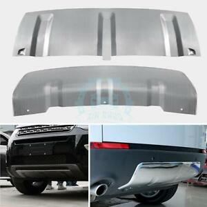 2x Front rear Bumper Lower Retrofit Trim For Land Rover Discovery Sport 2015 17