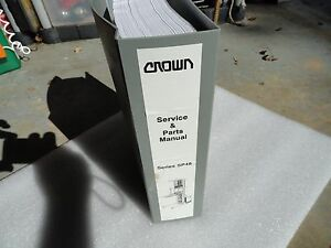 Crown Series Forklift Parts And Service Manual Picker Lift Truck Sp48