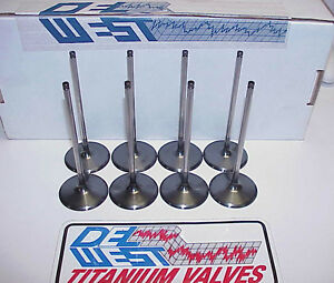 New 6 Mm Del West Titanium Intake Valves 5 740 2 180 Spintron iv 01bp