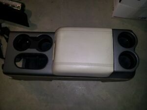 04 08 Ford F150 Lariat Center Console Floor Tan Cream Leather Lid