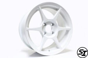 356 Alloy Wheels Tfs401 15x7 35 4x100 Gloss White For Miata Civic Eg Ek Xa Xb