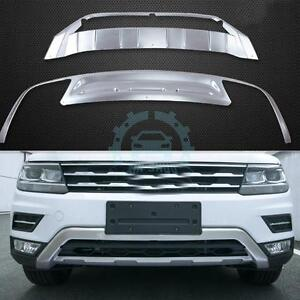 Front Bumper Trim Guard Board Cover Stainless Steel For Vw Tiguan Allspace 2017