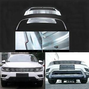 Front rear Bumper Guard Board Cover Stainless Steel For Vw Tiguan Allspace 2017