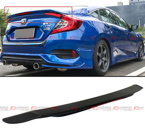 For 2016 17 Honda Civic 10th Gen Rs Style Rear Trunk Spoiler Wing W Led Brake