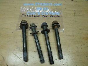 88 91 Honda Civic Hatch Crx Dx Si Oem Traction Bar Four 4 Bolts Set Usdm