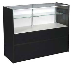 70 Half Vision Showcase Led Light Assembled Black Display Case Made In Usa New