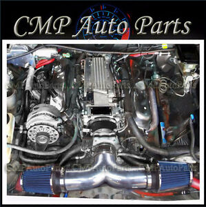 Black Blue 1994 1996 Chevy Impala Ss Caprice 4 3l 5 7l V8 Dual Air Intake Kit