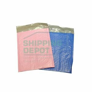 0 6 5x10 Pink Blue Colored Poly Bubble Mailers Combo Pack Fits Dvd Cd