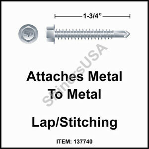 1500 14 X 1 3 4 Self Drilling Tek 3 Hex Washer Head Zinc Siding Screw 137740
