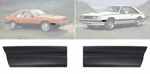 1979 1984 Ford Mustang Front Of Fender Trim Moldings Black Pair Lh