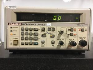 Advantest Tr5212 10hz 18ghz Microwave Counter