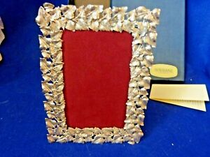 Sovrani Argenti Silver Picture Frame Leaf Design 7 Inch By 5 Inch