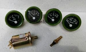 12v Electrical Gauges 52mm Oil Pressure Temp Fuel Volt With Senders