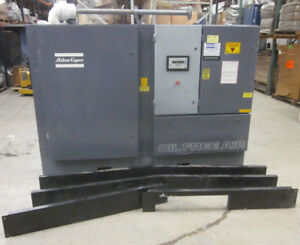 Atlas Copco Zr4 63 400hp 3ph Oil Free Air Compressor Screw 67330 hrs New Zstage2