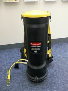 Rubbermaid Bh10q Hepa 10 Quart Commercial Backpack Vacuum Cleaner Used Nice Cond