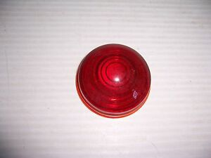 Early Tail Stop Brake Light Vintage 2 3 8 Red Glass Lens Car Auto 1920 s 30 s